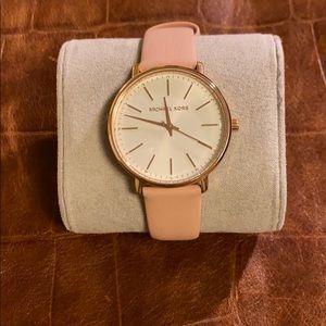 Michael Kors Blush Leather Watch